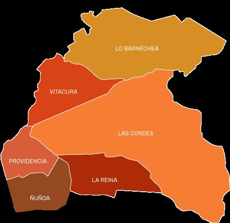 Mapa cobertura cerrajeria santiago